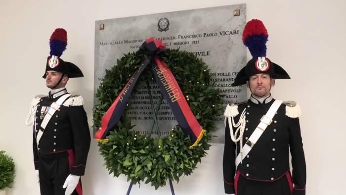 intitolata all eroe vicari la nuova caserma dei carabinieri
