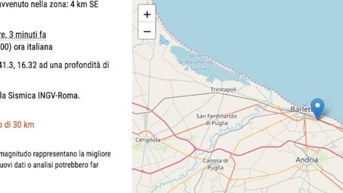 forte scossa di terremoto in puglia avvertita in campania