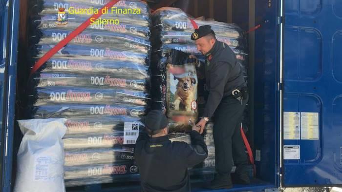 cibo per animali contraffatto maxi sequestro al porto