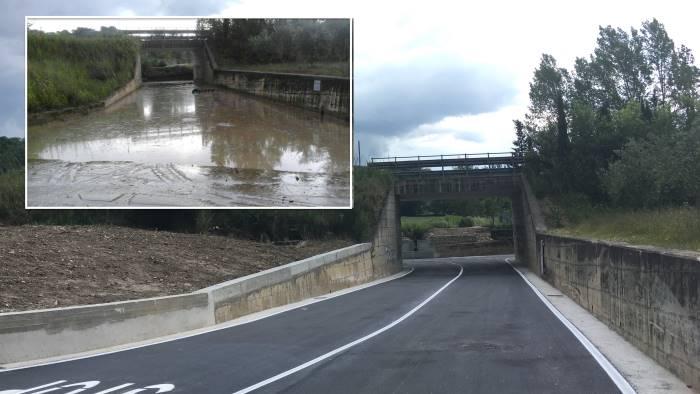 terminati i lavori del sottopasso distrutto da alluvione foto
