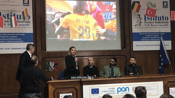benevento i giallorossi all itis per discutere di fair play