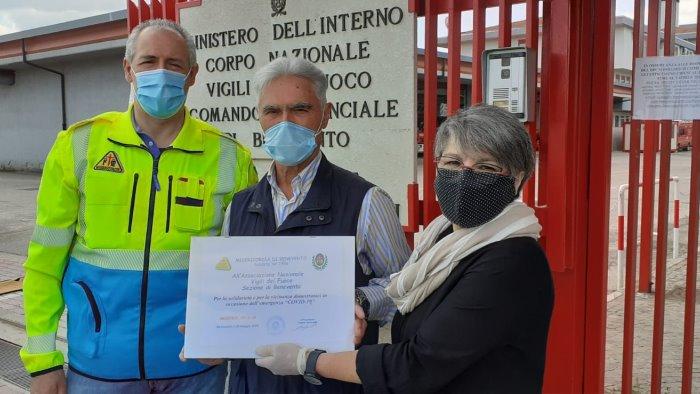 associazione vigili del fuoco dona 570 euro alla misericordia