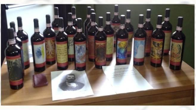 arte e vino in un etichetta per mozart