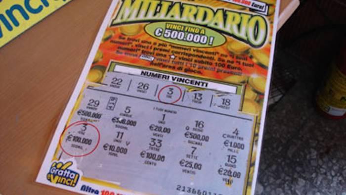 altavilla gratta e vinci da 5 euro vinto mezzo milione