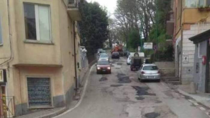ariano sostituzione rete idrica e pavimentazione in centro