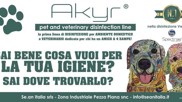 se an italia lancia akyr pet la prima linea di disinfezione