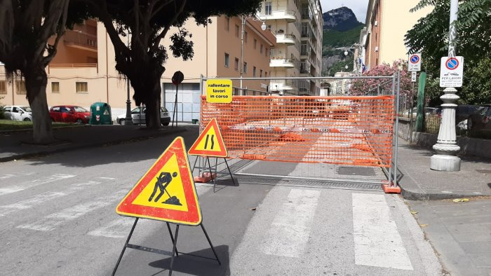 lavori a condotta cetara salerno disagi alla circolazione