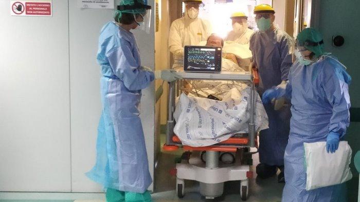 covid al san pio torna a svuotarsi il reparto di terapia intensiva