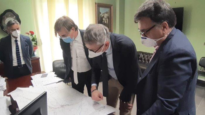 completamento fortorina sindaco agostinelli incontra l anas