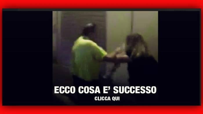 avellino donna picchiata a due passi dal comune video shock
