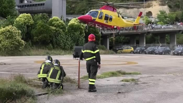 occlusione intestino bimbo trasferito in elicottero a napoli
