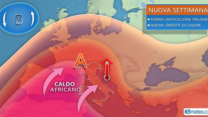 torna l anticiclone nuova ondata di calore alle porte