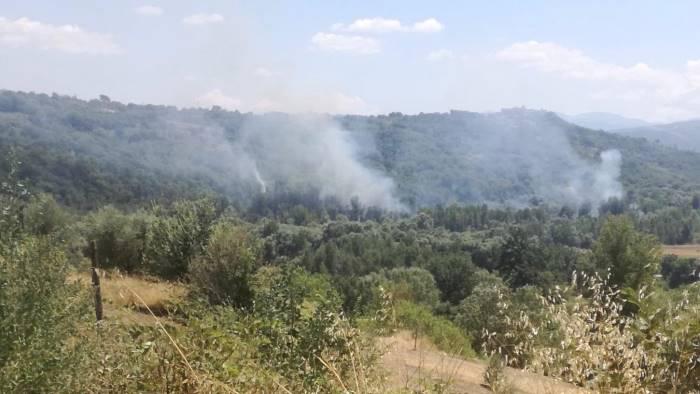fiamme domate a taurasi in fumo oltre 3 ettari
