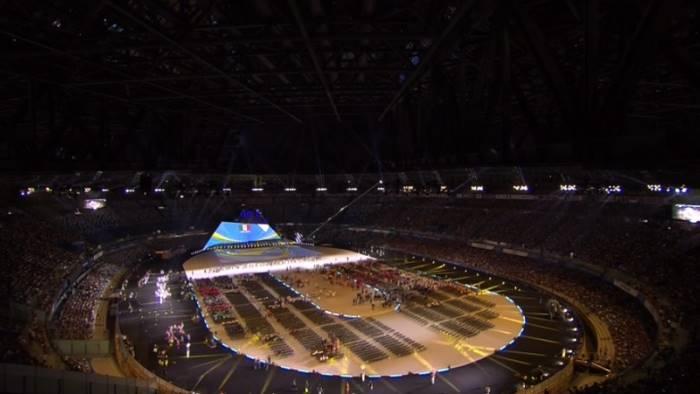 universiade napoli 2019 apertura al san paolo che show