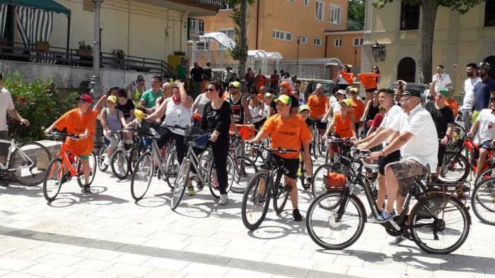pedalata sannita grande successo per la manifestazione