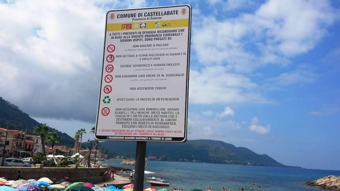 castellabate linea dura contro gli incivili delle spiagge