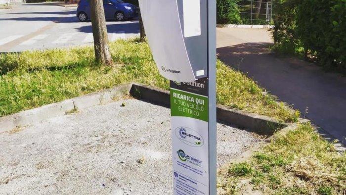 pellezzano nuova e station per ricaricare veicoli elettrici