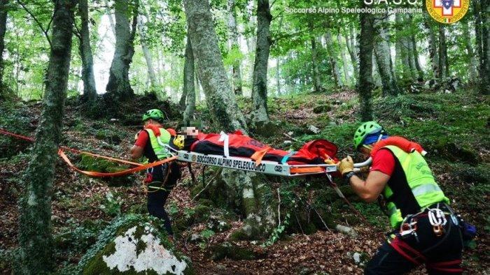 salvata un escursionista sui monti di bagnoli