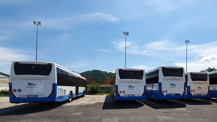 air la regione consegna 8 nuovi autobus