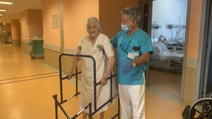 operata al femore a 101 anni nonna iolanda lascia il moscati
