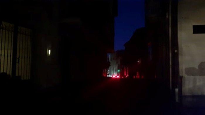 ariano black out elettrico nel centro storico