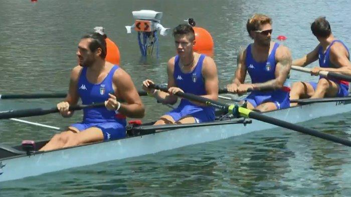 olimpiadi canottaggio vicino racconta l incredibile giornata del quattro senza