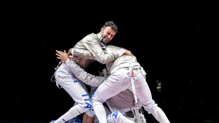 argento italia nella sciabola a squadre uomini
