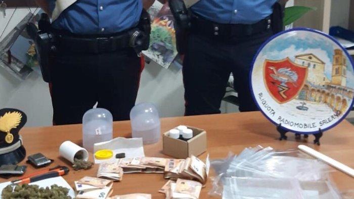 beccato con marijuana hashish e metadone in casa arrestato 38enne