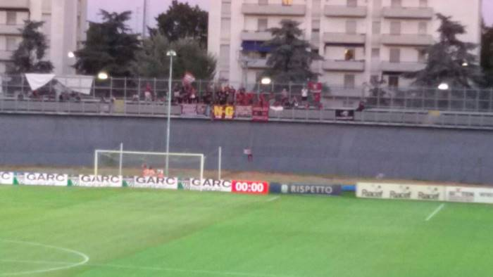 a carpi 84 irriducibili applausi per i calciatori