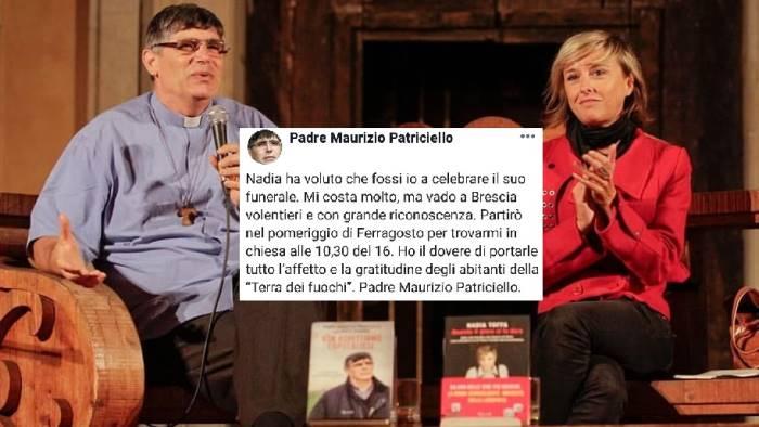 nadia toffa don patriciello celebrera il funerale