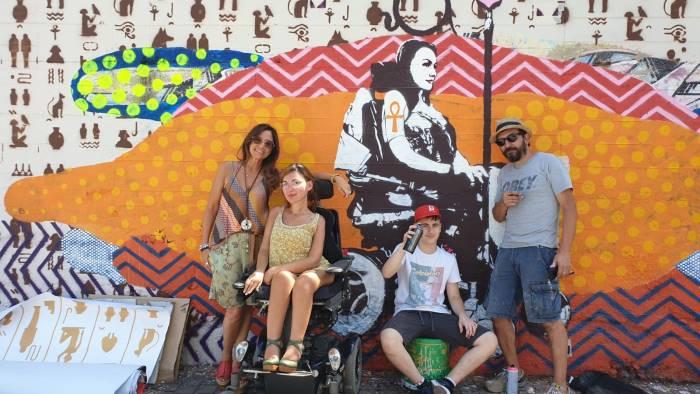 disabilityfriendly concluso il murales su iside