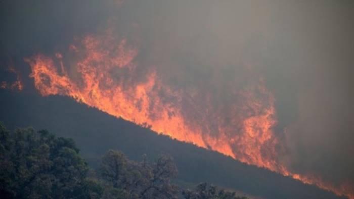 brucia ancora la costiera incendio a capo d orso