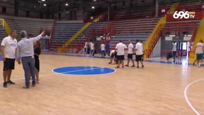napoli basket vigilia del primo test a minturno