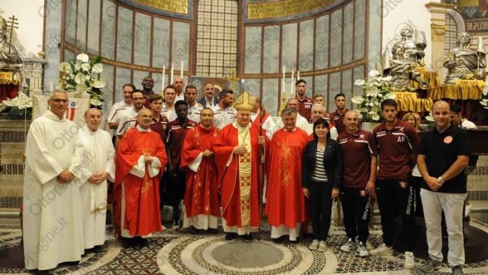 fotogallery salernitana alla santa messa degli sportivi