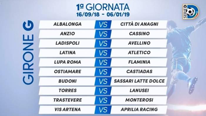 Calendario Serie A Ottava Giornata.Calcio Avellino Ecco Il Calendario Del Girone G Di Serie D