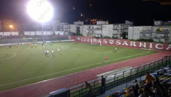 salernitana 0 0 a sarno ma anche 2 0 con l equipe campania