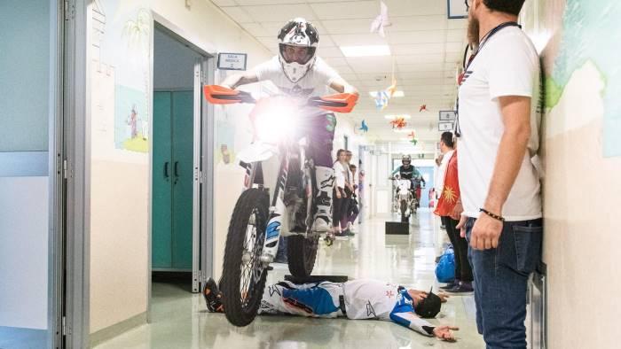 la mototerapia arriva al pausilipon a napoli