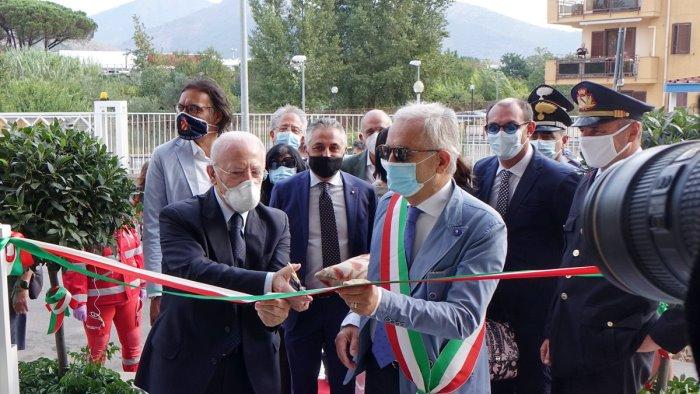 roccapiemonte inaugurata nuova sede polizia e servizi sociali