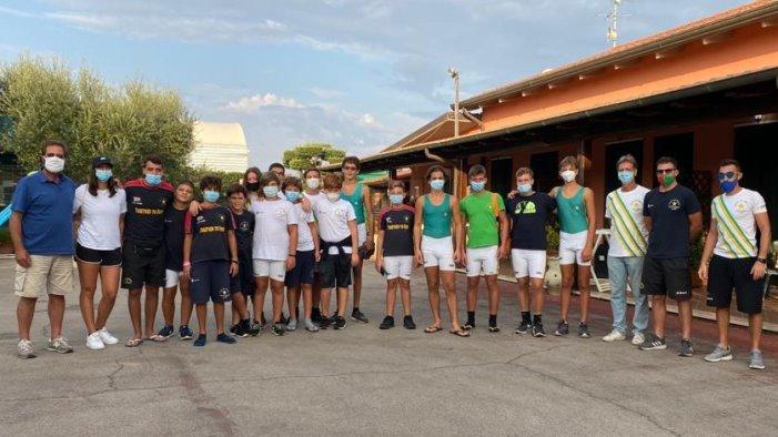 canottaggio concluso il meeting giovanile a sabaudia