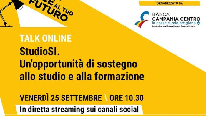 sostegno e formazione talk online di banca campania centro