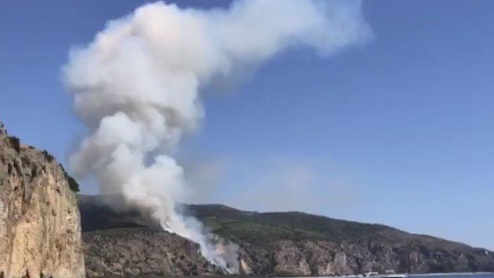 fiamme nei pressi dell ex ciclope brucia la mingardina
