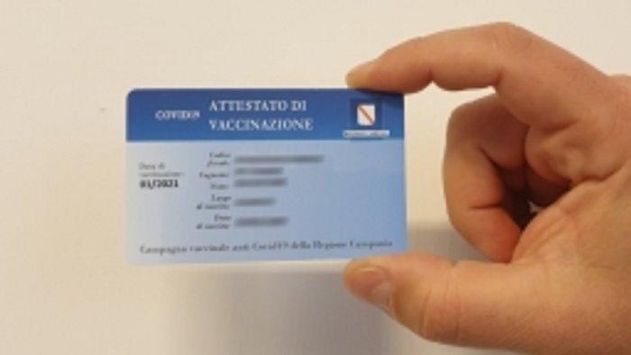 card vaccinali da lunedi in distribuzione nuova tranche di tessere