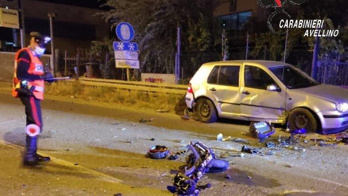 schianto tra moto e auto ad ariano muore giovane centauro