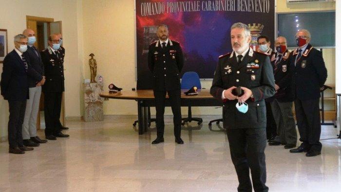 il generale di brigata antonio jannece in visita all arma sannita