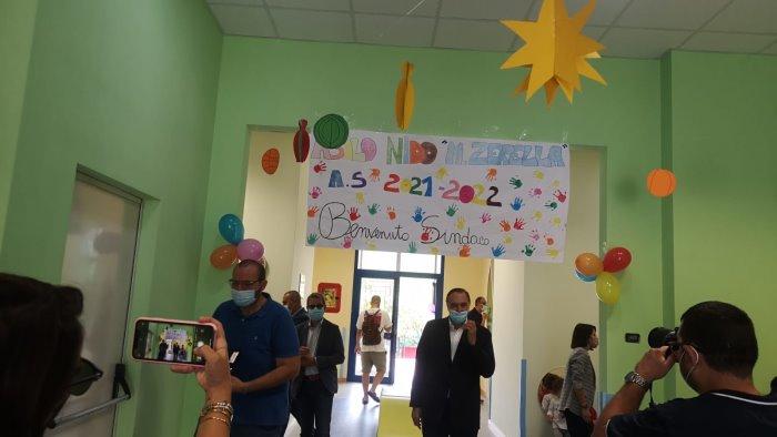 inaugurato asilo nido zerella mastella aiuto concreto ai genitori