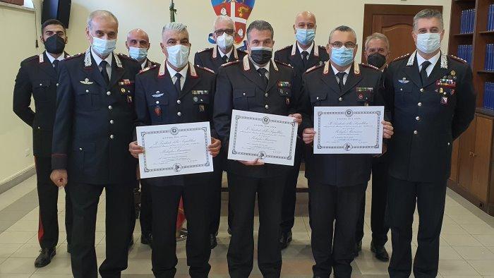 carabinieri avellino consegnata la medaglia mauriziana ai militari