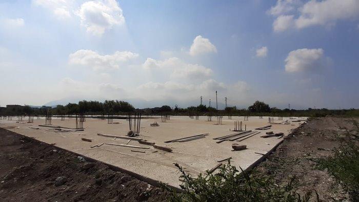 continuano i lavori di realizzazione della citta della scuola di sarno